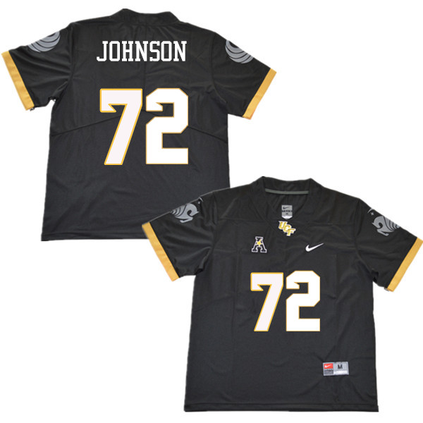 Men #72 Jordan Johnson UCF Knights College Football Jerseys Sale-Black